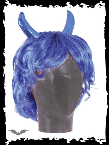 Wig blue short, Devil