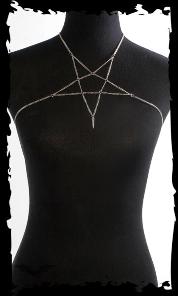 Necklace with pentagram