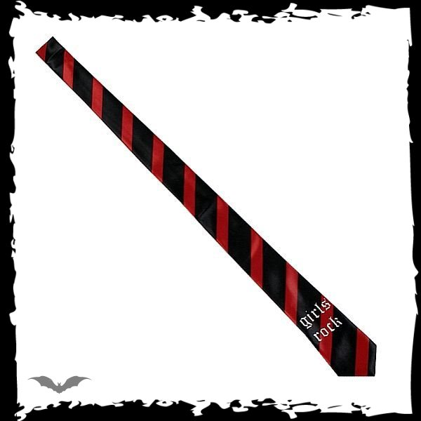 Black / red stripes. Girls rock.