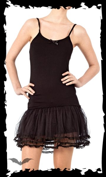 Mini Dress with layered Tulle Skirt