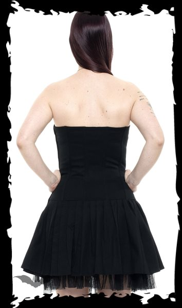 Strapless mini dress with lacing and d-r