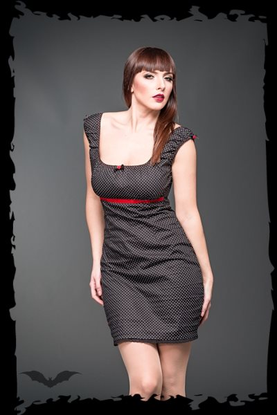 Rockabilly Mini dress with dots and red