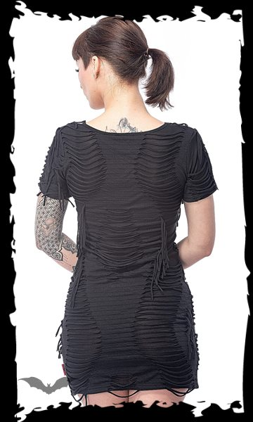 Mini dress with fringes
