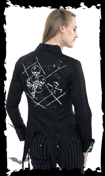 Jacket with laced on sleeves