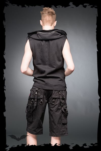 Vest with hidden Hood