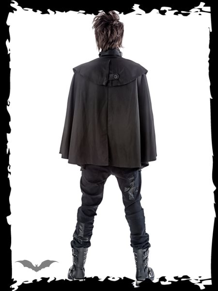 Black Unisex Cape Jacket