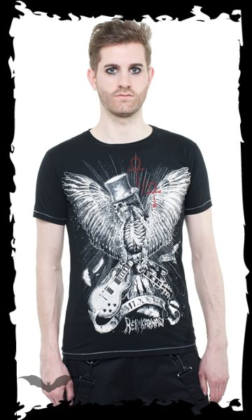 T-Shirt Eagle Skull black