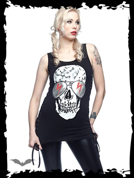 Black Shirt with Massive Skull