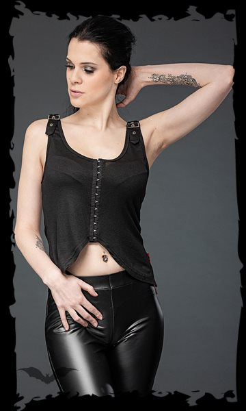 Summery Gothic Top with buckles on the s
