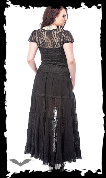 Gothic Lace-Top with puffed sleeves, sep