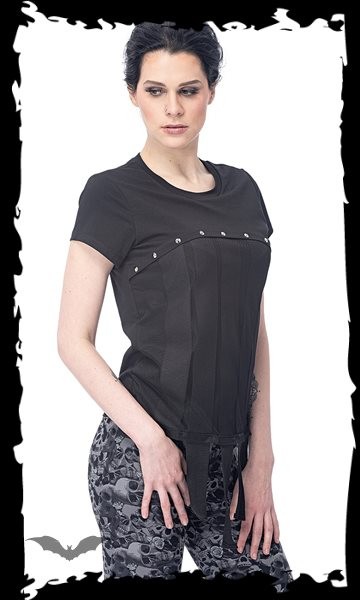 Top with mesh on the front and decorativ