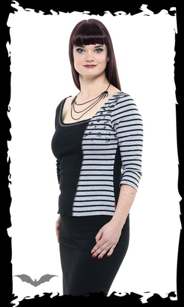 Black and grey shirt with stripes