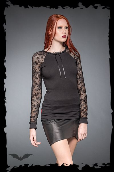 Shirt With Long Lace-Sleeves