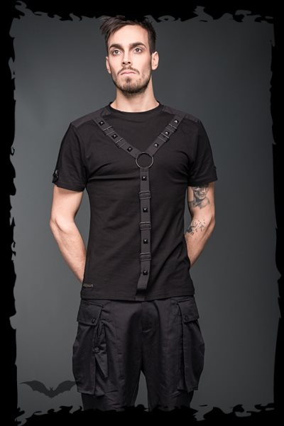 T-Shirt with bondage in shape of Y