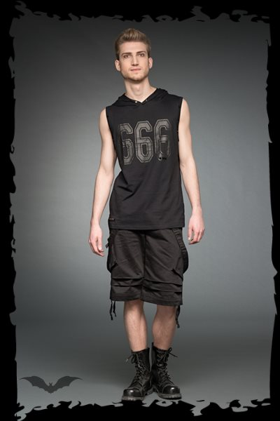 Sleeveless top with print 666