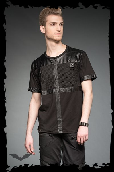 T-Shirt with PVC elements cross