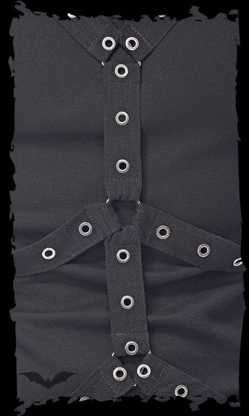 Shirt with eyelet-bound bondages