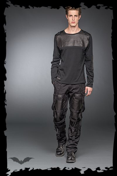 Longsleeve With Artificial Leather