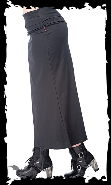 Long skirt with removable pocket, slit a