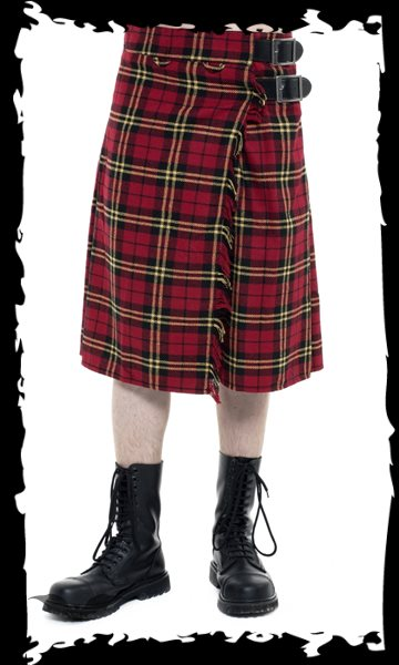 Red & yellow chequered thick Kilt