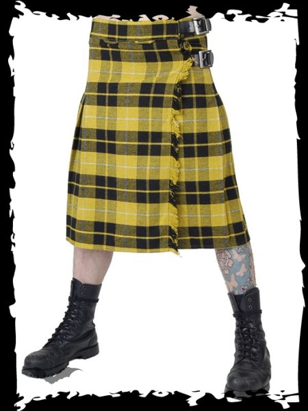 Kilt yellow squared thick