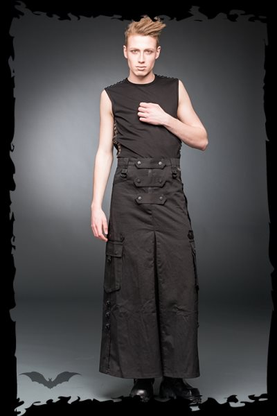 Long skirt with pockets and d-rings