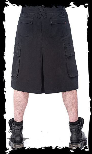 Black Kilt with black studs and pockets