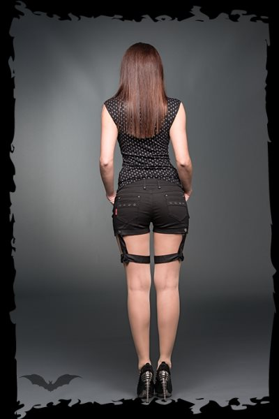 Hotpants with 1 removable bondage on the