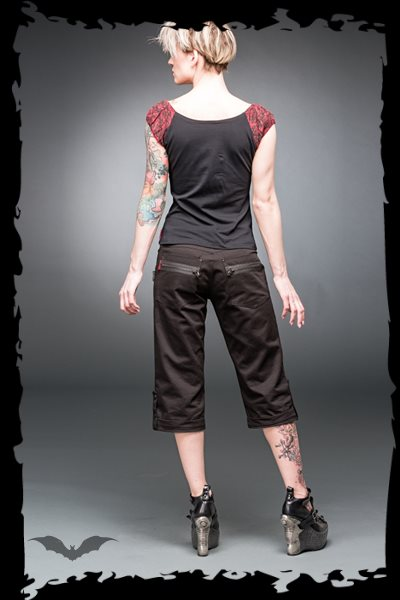Black kneelength trousers