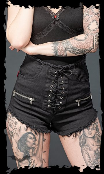 High Waist Hotpants with lacing