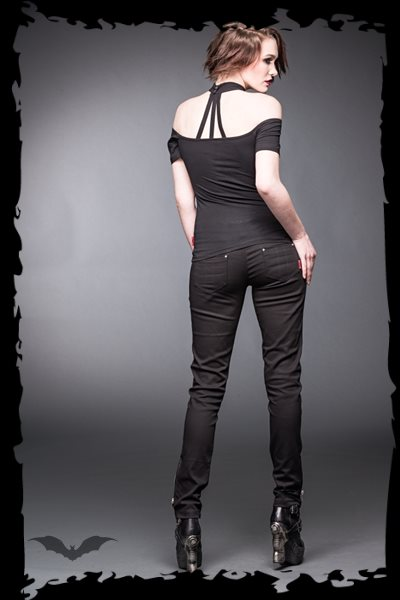 Long pants with zippers