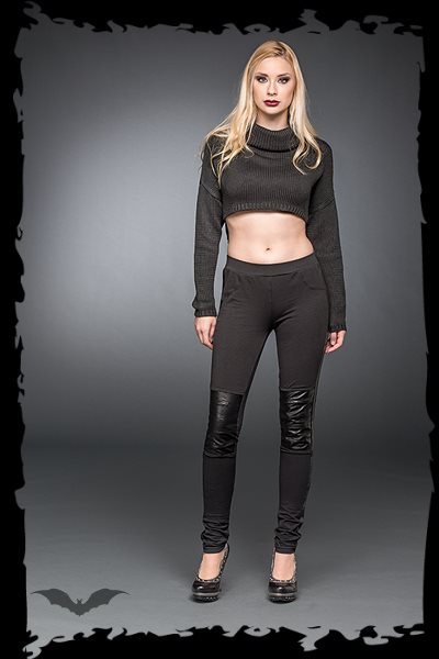 Leggings With Artificial Leather