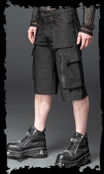 Pants with many pockets, D-rings and oth