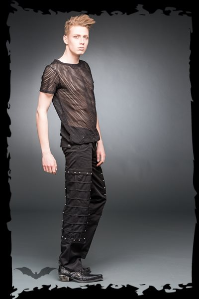 Black pants with small studs