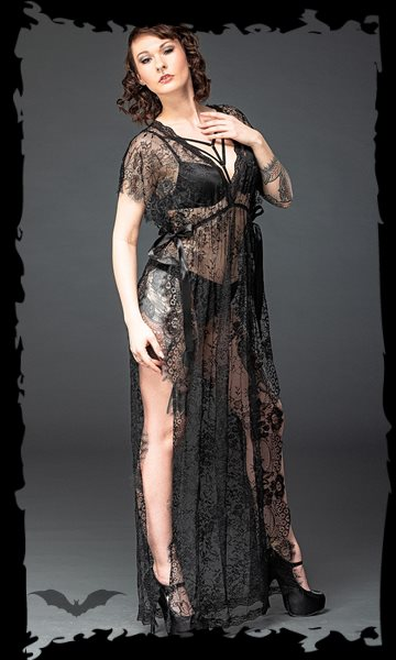 Long lace negligee, nightwear
