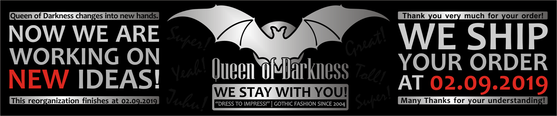 Queen of Darkness Gothic Fashion - Dress to impress! - Gothic Fashion since 2004